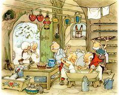 Fritz Baumgarten / Weihnachtsfest im Wichtelland / Bild 04 Baumgarten, Elves And Fairies, Vintage Children's Books, Fairy Art, Magical Creatures, Children's Book Illustration, Childrens Books, Illustrators, Fantasy Art
