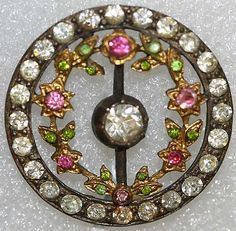 Button Date: Culture: French Medium: metal, paste Dimensions: [no dimensions available] Credit Line: From the Hanna S. Cool Buttons, Metal Buttons, Vintage Buttons, Vintage Rhinestone, Button Art, Button Crafts, Sewing A Button, Sewing Notions, Vintage Sewing