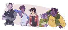 Later, Paladudes! — How about everyone is Galra but Keith?