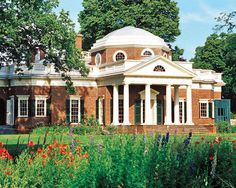 Monticello, the former plantation home of Thomas Jefferson in Charlottesville, Virginia, was originally designed based on neoclassical aesthetics.