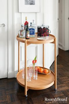 Entertaining made easy with our modern bar carts and accessories.