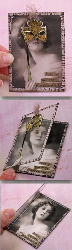 how cool is that! ATC by Arte Banale - can use as insert on scrap page or card!