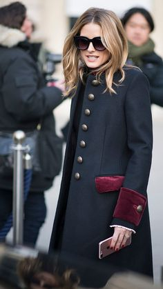 Olivia Palermo seen in the streets of Paris during the Paris Haute Couture Fashion Show on January 23 2017 in Paris France
