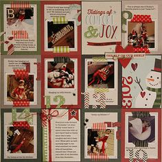 Simple Stories December Documented Project Life style cards used on a traditional grid layout by Nichol Magouirk.