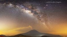 Milky way over the Smoking Volcano  Great Milky way arc over the Popocatepetl  Camera: Canon EOS 6D Lens: EF16-35mm f/2.8L USM Focal Length: 16mm Shutter Speed: 30sec Aperture: f/3.5 ISO/Film: 6400  Image credit: http://ift.tt/2a3TwOS Visit http://ift.tt/1qPHad3 and read how to see the #MilkyWay  #Galaxy #Stars #Nightscape #Astrophotography