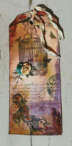 Vintage Birdcage Tag - Scrapbook.com