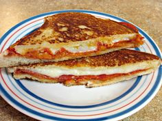 Pepperoni Pizza Grilled Cheese Sandwich - Love to be in the Kitchen