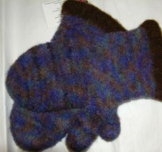Multi Colored Felted Mittens Women's Medium by DesignsbyFredericka, $35.00