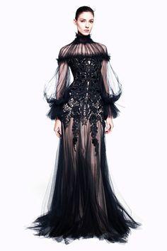 Alexander McQueen Pre-Fall 2012  Goth Steampunk Dress idea