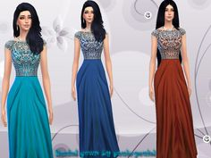 Beaded gown by paulo-paulol at TSR via Sims 4 Updates