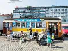 A tram-ice cream truck!   Jäätelökioskilla | Turun kauppatori,  Suomi Finland.