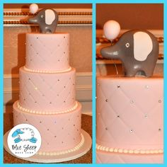 Jennifer's Elephant Baby Shower Cake – Blue Sheep Bake Shop