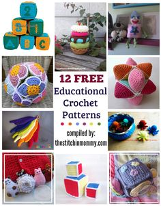Make something that your little one will love and will help them learn with these 12 free educational crochet patterns by some amazing designers!