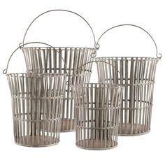 Aidan Gray Tall Riveted Basket Set