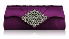 Satin Clutch Bag with Diamanté Detail, available in 3 Colours.   http://www.lovebirdlane.co.uk/ws-shop/category/781-handbags--purses-#.UqLXTz0gHCQ