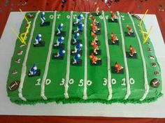 A fun cake for your football party or child's game.  From NFL to Little League.  Aunt Bay's Delights has you covered