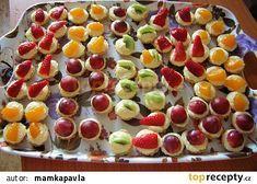 Ovocné mini košíčky recept - TopRecepty.cz Fruit Salad, Sushi, Treats, Cooking, Sweet, Ethnic Recipes, Advent, Wedding, Sweet Like Candy