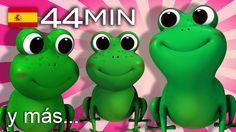 Cinco ranitas  | Y muchas más canciones infantiles | ¡44 min de LittleBa...