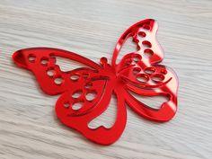 Sticker oglinda fluture rosu Stickers, Wine, Red, Decals