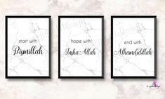 Allah, Bismillah, Inshaal - Haus How to Crafts Islamic Quotes, Islamic Art, Islamic Posters, Alhamdulillah, Allah, Sparkle Quotes, Ramadan, Islamic Wall Decor, Gold Leaf Art
