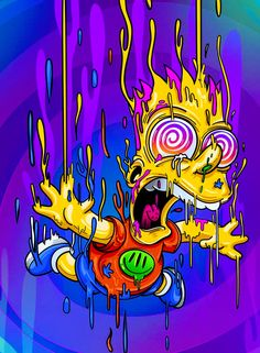 Melting Bart, The Simpsons Teen Titans, Neon Signs, Kids, Toddlers, Boys, Infants, Children, Kid, Babies