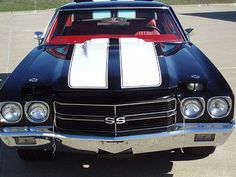 1970 Chevelle SS, my first car... but mine was white with black racing stripes. All black interior. It was sweet!