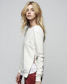 Cotton Citizen Side Zip Sweatshirt - Buy at Punch in downtown Santa Rosa!