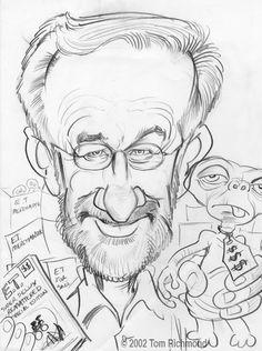 Steven Spielberg © 2002 Tom Richmond