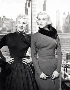 Betty Grable and Marilyn Monroe in 'How to Marry a Millionaire'