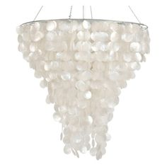 Worlds Away Capiz Chandelier ($1,513) ❤ liked on Polyvore featuring home, lighting, ceiling lights, capiz hanging lamp, capiz shell lamp, circular chandelier, capiz shell lighting and round lights