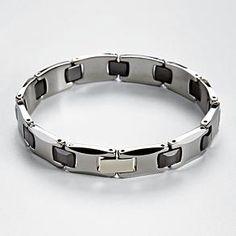 tungsten & ceramic bracelet from RedEnvelope.com