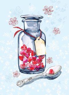 Hearts In A Bottle