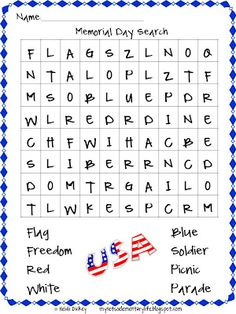 memorial day activities for school age