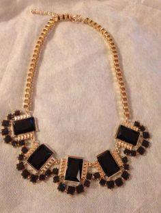 BLACK AND GOLD STATEMENT NECKLACE for 890 points OR $8.90 #accessories #fashion #statementnecklace