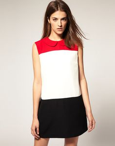 Wish I was young enough & skinny enough to wear this! Love this Black White Red Sleeveless Dress