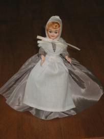 2 Dolls - Blue Bonnet Margarine Vintage Plastic Dolls
