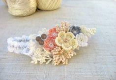 Elastic Headband, Crochet Headband, Floral Headband, Delicate headband, Photo Accessories, Photo Headband