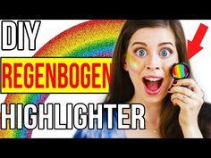KRASSER 1000€ DIY REGENBOGEN HIGHLIGHTER im LIVE TEST!! PINTEREST UNICORN MAKEUP + ERGEBNIS! - YouTube