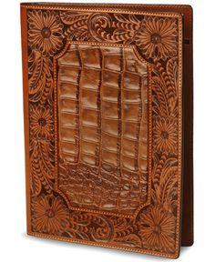 Floral Tooled Leather Portfolio
