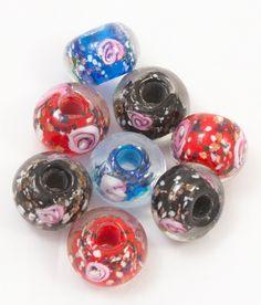 Cuentas de cristal - Bola murano semitransparente