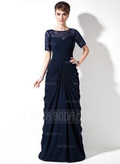 Kleider für die Brautmutter - $162.99 - Etui-Linie U-Ausschnitt Pinsel Schleppe Chiffon Spitze Kleid für die Brautmutter mit Rüschen Perlen verziert Pailletten (008005760) http://amormoda.de/Etui-linie-U-ausschnitt-Pinsel-Schleppe-Chiffon-Spitze-Kleid-Fuer-Die-Brautmutter-Mit-Rueschen-Perlen-Verziert-Pailletten-008005760-g5760
