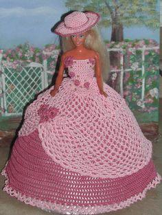 Crochet Fashion Doll Barbie  Pattern 413 by JudysDollPatterns