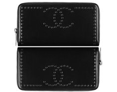 Chanel Lambskin Zip Wallet With Embossed CC Signature