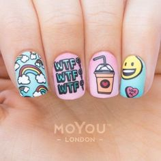 Try some of these designs and give your nails a quick makeover, gallery of unique nail art designs for any season. The best images and creative ideas for your nails. Trendy Nail Art, Cute Nail Art, Cute Acrylic Nails, Acrylic Nail Designs, Trendy Hair, Tumblr Nail Art, Unicorn Nails, Nagel Gel, Super Nails