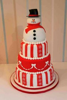 Winter Snowman Cake christmas