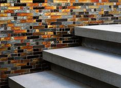 Tile Wall & Concrete Stairs | Arterra Landscape Architects