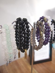 Gem stone bracelets by Heart of Joy.