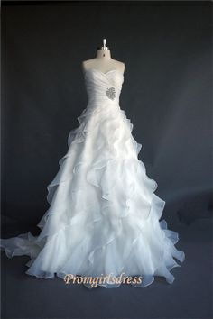 Custom Simple Ball Gown Wedding Dresses by Promgirlsdress on Etsy, $299.00 I like the skirt, not really the top.