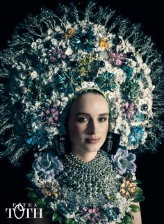 Traditional slavic bride with jewels by Petra Toth