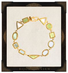 Glamorous Ethical Gems: Turquoise Mountain by Pippa Small. The elementally shaped gemstones in this Turquoise Mountain morganite bracelet encircle the wrist with the strong design and craftsmanship that is often embodied by fine jewelry from antiquity.